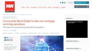 Ocwen picks Black Knight to take over mortgage servicing operations ...