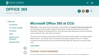 Office 365 - Coastal Carolina University
