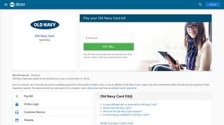Old Navy Card: Login, Bill Pay, Customer Service and Care Sign-In