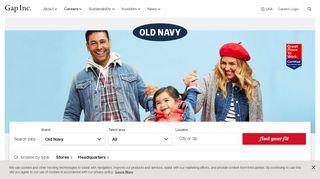 Old Navy Careers - Gap Inc. Careers