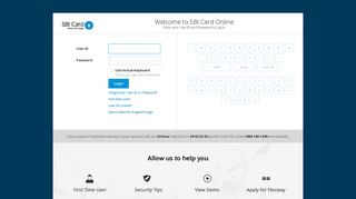 Login - Account Access - Login, Register, Reset Your Account | SBI Card