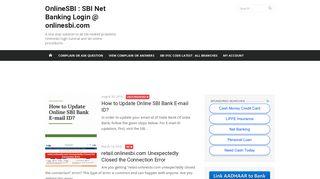 OnlineSBI : SBI Net Banking Login @ onlinesbi.com