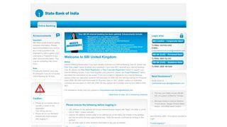 State Bank Of India, UK - OnlineSBI Global