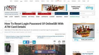 State Bank Of India: How To Reset Login Password Of OnlineSBI With ...