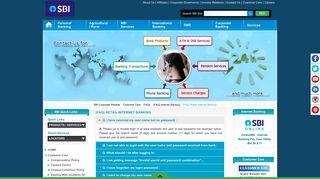 (FAQ) Retail Internet Banking - SBI Corporate Website