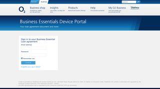 Business Essentials Device Portal | O2 Business UK
