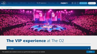 The VIP experience | The O2