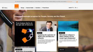 Corporate Website of Orange - orange.com