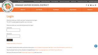 Login - Orange Unified School District