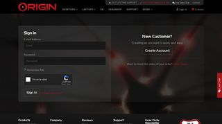 Login Portal for Existing, New, and Guest Accounts | ORIGIN PC