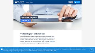 Outlook Express and mail.com