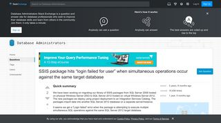 sql server 2012 - SSIS package hits