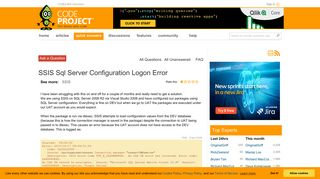 [Solved] SSIS Sql Server Configuration Logon Error - CodeProject