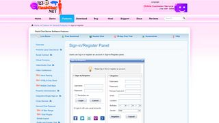123 Flash Chat – Sign-in/Register Panel - 123 Flash Chat Net