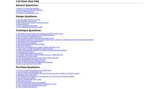123 Flash Chat FAQ