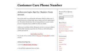 160by2.com Login, Sign Up / Register, Create Account | Customer ...