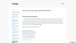 247 Green Street Login $200-$1000 inHour - oobugi - Google Sites