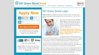 247 Green Street Login | Pay day loan inside Rapidly Moment. Get