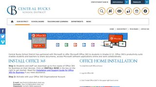 Tech Pages / Office 365 - Central Bucks School District