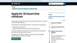 Apply for 30 hours free childcare - GOV.UK