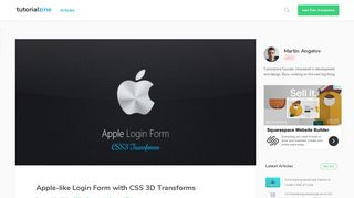 Apple-like Login Form with CSS 3D Transforms - Tutorialzine