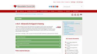 e-ALS - Advanced Life Support e-learning course