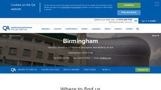 Birmingham   Training Locations   QA