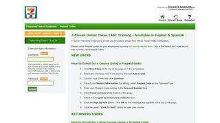 7-Eleven Online Texas TABC Training - TABC Training   7-Eleven