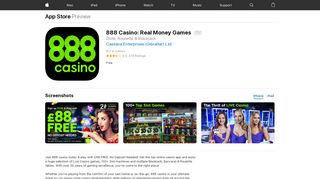 888 Casino: Real Money Games on the App Store - iTunes - Apple