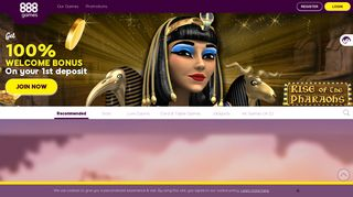 Play Online Casino Games | Enjoy £12 Free | 888games™