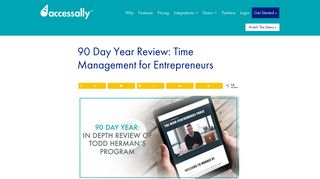 90 Day Year Review: Time Management for Entrepreneurs – AccessAlly