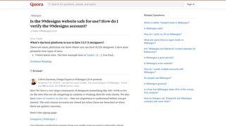 Is the 99designs website safe for use? How do I verify the ...