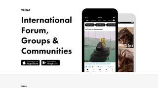 9CHAT — International Forum, Groups & Communities — 9GAG