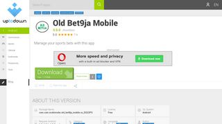 download old bet9ja mobile free (android) - Uptodown.com