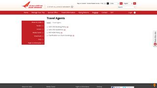 Travel Agents - Air India