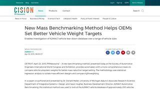 New Mass Benchmarking Method Helps OEMs Set Better Vehicle ...