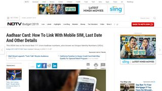 Don't Have Aadhaar Registered Mobile Number? How To Link Mobile ...