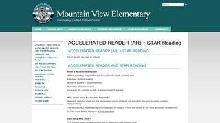 ACCELERATED READER (AR) + STAR Reading - Mountain View ...