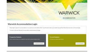 Warwick Accommodation Login - University of Warwick