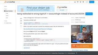 being redirected to wrong loginUrl -> account/login instead of ...