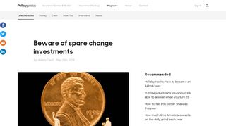 Acorns review: Beware of spare change investment apps   Policygenius