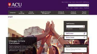 Staff - ACU (Australian Catholic University)