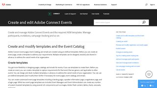 Create and modify Adobe Connect Events - Adobe Help Center