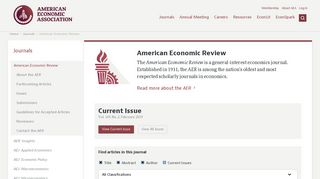 American Economic Review - American Economic Association