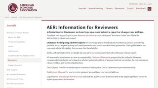 AER: Information for Reviewers - American Economic Association