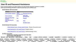 Ahold Delhaize Secure Web Application Signon - ws1