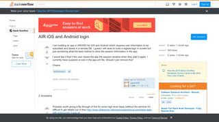 AIR iOS and Android login - Stack Overflow