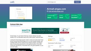 Everything on airmail.airgas.com. Outlook Web App. - Horde