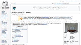 African Journals OnLine - Wikipedia