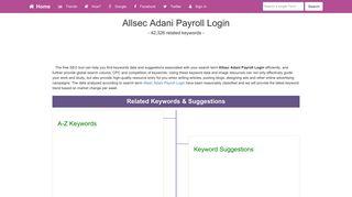 Allsec Adani Payroll Login - Keywordsfind.com